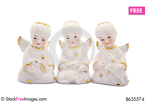 Free Three Porcelain Angels Stock Images - 8635574