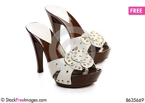 Free New Woman Shoes Royalty Free Stock Images - 8635669