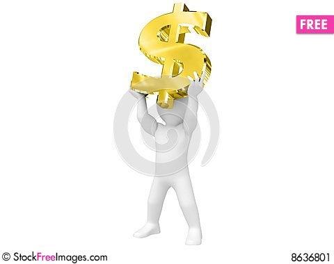 Free I Have Dollar. Stock Image - 8636801
