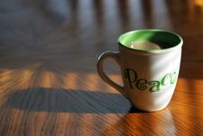 Free Coffee Peace Royalty Free Stock Images - 8630669