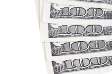 One Hundred Dollar Bills. Close-up Shot Royalty Free Stock Images