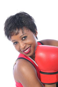 Young Girl Boxer Stock Images