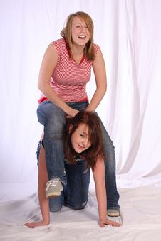 Free Two Sisters Having Fun Stock Images - 8631894
