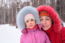 Free Mother With Child  In Winter Stock Photos - 8631903