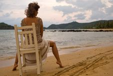 Free Woman By The Sea Royalty Free Stock Photos - 8631978