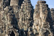 Faces Of Angkor Thom Stock Photos