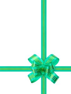 Free Green Bow And Ribbon Stock Image - 8632541
