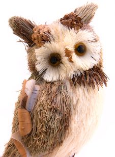 Free Brown Toy Owl Isolated On A White Stock Photography - 8633022
