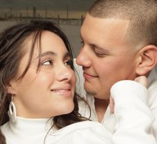 Free Young Couple Headshot Stock Photography - 8633222