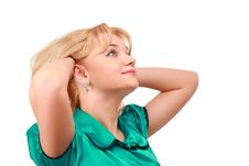 Free Young Blonde Looks Upward Royalty Free Stock Photography - 8633537