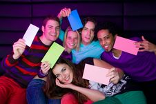 Free Teenagers Holding Signs Royalty Free Stock Photography - 8633667
