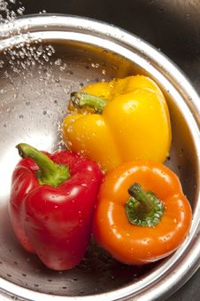 Free Yellow Red And Orange Bell Pepper Stock Photography - 8633922
