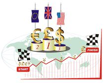 Free World Currency Competition Royalty Free Stock Images - 8634239