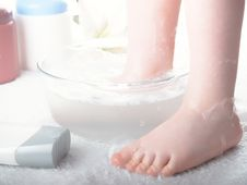 Washing Of Legs Royalty Free Stock Photography