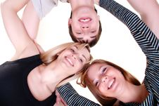 One Man And Two Women Stock Images