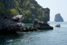 Scuba Diving In Thai Sea. Royalty Free Stock Images