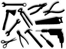 Free Tools Silhouettes Stock Images - 8635904