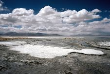 Free Salt Crust On A Lake In Bolivia,Bolivia Stock Image - 8637561
