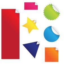 Free Stickers Set Stock Photos - 8638593