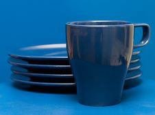 Free Blue Dishes Royalty Free Stock Photo - 8639065