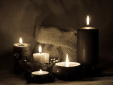 Free Aromatic Candles _sepia Royalty Free Stock Photo - 8639615