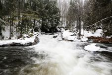 Free Winter Running River Stock Photography - 86301092