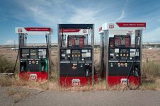 Free Abandoned Gas Station Royalty Free Stock Photos - 86302298