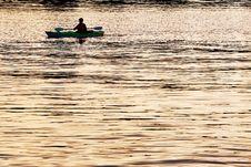 Free Kayak On Golden River Royalty Free Stock Image - 86302866