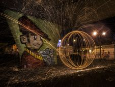 Free Light Painting Royalty Free Stock Image - 86304916