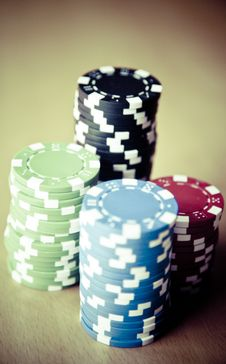 Free Texas Hold Em Poker Game Of Hazard Stock Photography - 86309672