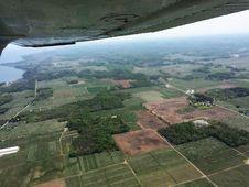Free Aerial View Of Green Trees And Fields Stock Photos - 86310053
