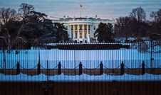 Free The White House In Winter Stock Photography - 86310122