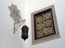 Free Moroccan White Corner Royalty Free Stock Image - 86310146