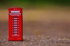 Free Red Telephone Booth Miniature Focus Photo Stock Images - 86312094