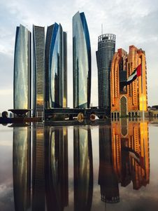 Free Reflection Of Skyscrapers In City Royalty Free Stock Photo - 86314115