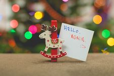 Free Christmas Ornament With Sign Stock Photos - 86314653