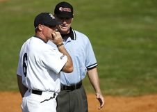 Free Baseball Player And Umpire Royalty Free Stock Photography - 86352717