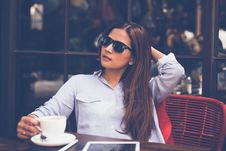 Free Portrait Of Young Woman Drinking Coffee At Home Royalty Free Stock Photography - 86353927