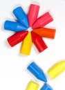 Free Octagonal Star From Children S Wax Pencils Royalty Free Stock Images - 8640409