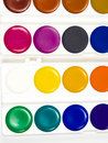 Free Sixteen Different Shades Of Water Colour Paints Royalty Free Stock Photo - 8641395
