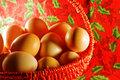 Free Easter: Many Simple Eggs In Decorative Basket Stock Images - 8643984