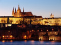 Free Prague Gothic Castle Past Sunset On Vltav Stock Photography - 8646262