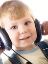Free The Child In Headphones Royalty Free Stock Photography - 8646617