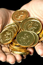 Free Gold Coins Royalty Free Stock Image - 8648146