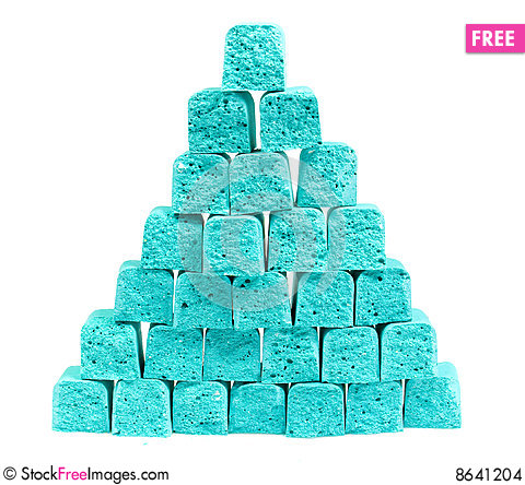 Free Pyramid From Slices Children S Chalk Stock Images - 8641204