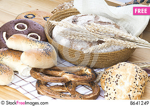 Free Bread Composition Royalty Free Stock Images - 8641249