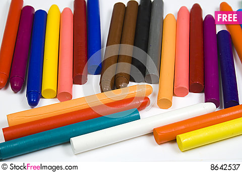 Free Set Of Children S Oil Pencils Royalty Free Stock Photography - 8642537