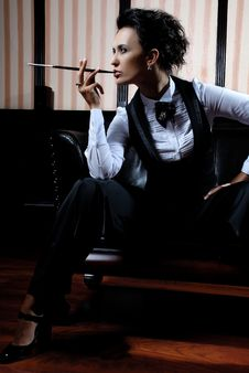 Free Businesswoman Smoking Stock Photos - 8640053
