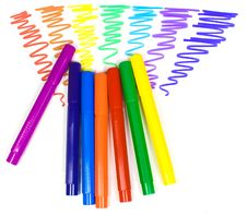 Free Color Felt-tip Pens On A Background Royalty Free Stock Photo - 8640205