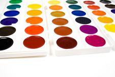 Free Bright Water Colour Paints Royalty Free Stock Photo - 8640295